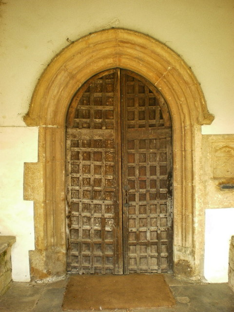 All Saints Church, Elton, Door