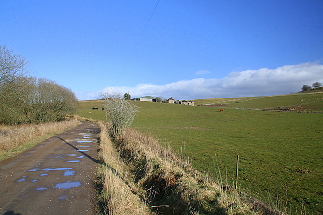 Track to Cowhillock farm