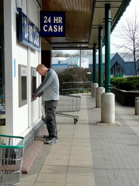 Cash point; Morrison's, Ross-on-Wye