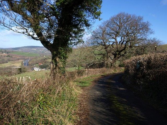 Lane above Pridhamsleigh