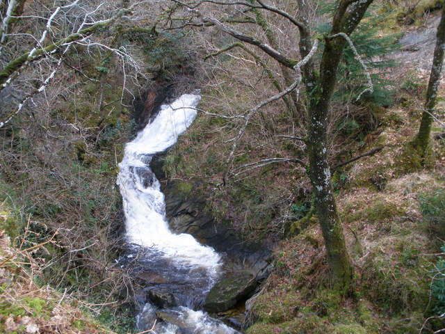 Waterfall in Barnacarry Burn
