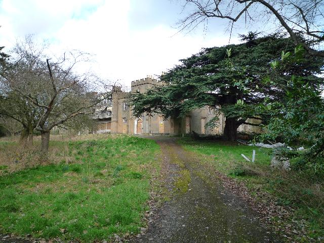 Twyford Abbey - from the drive