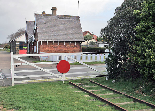 Kirk Michael level crossing and station