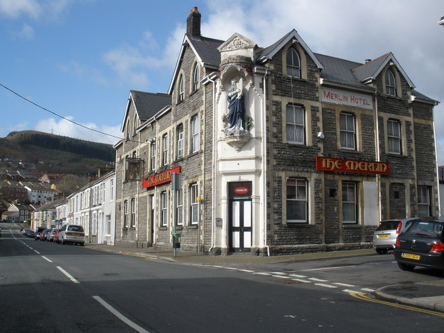 The Merlin Hotel, Pwllgwaun Road, Pontypridd