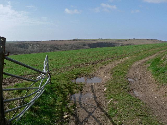 Across Ewenny Down toward Old Castle Down.