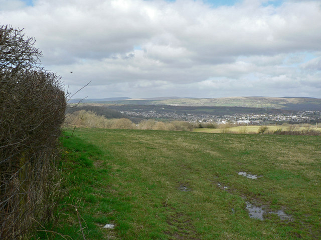 View north from St Mary Hill Down.