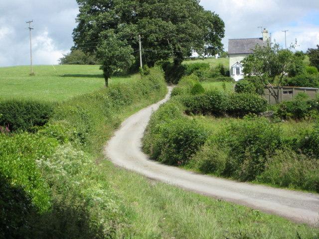 Cottage on the back road to Llanddoged