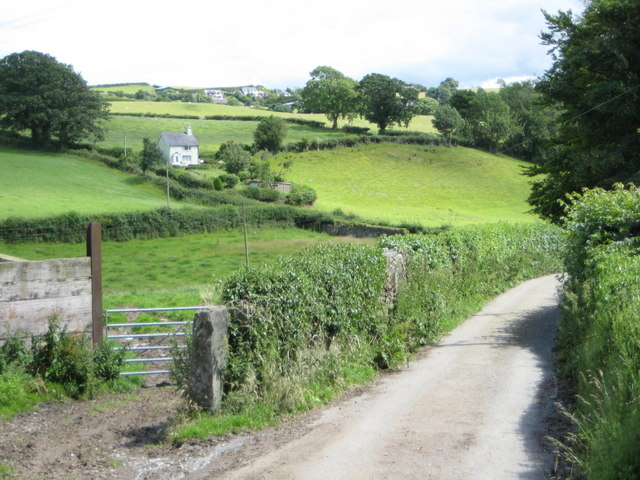 Fields round Llanddoged