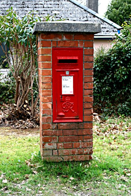 George vi post box at Playing Place