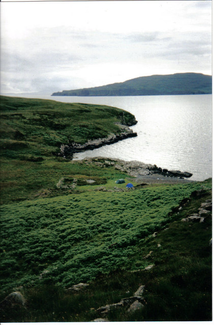 View to old settlement on Wiay