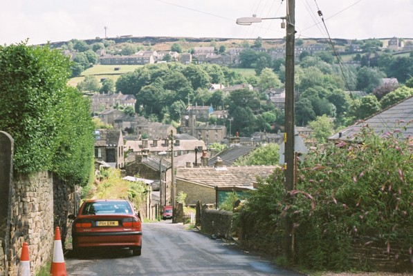 Looking Down Cemetery Road towards Holmfirth