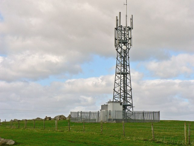 Comms. mast, St Mary Hill Down.
