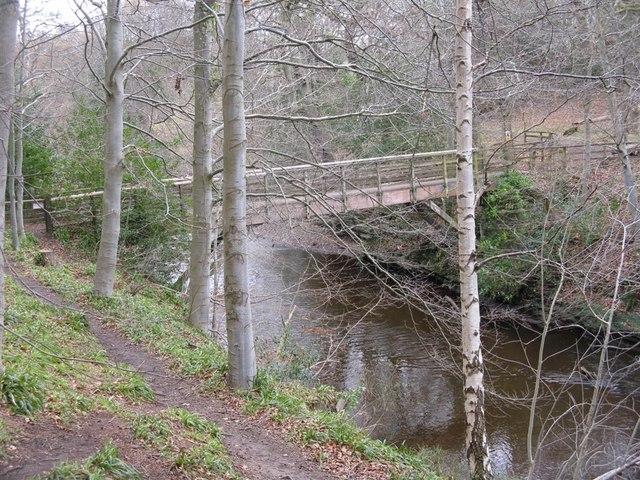 Footbridge over the River North Esk