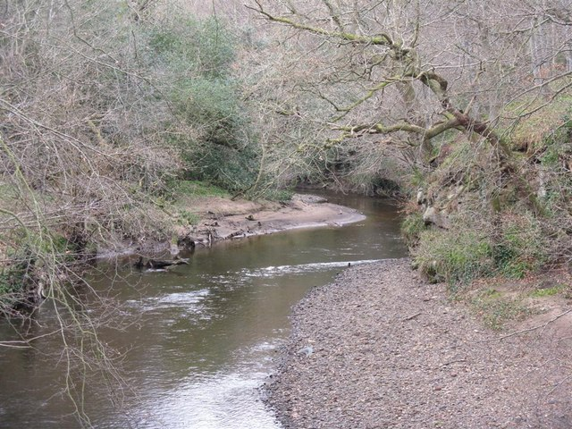 Looking up the River North Esk