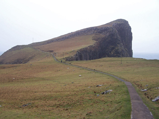 Path to Neist Point lighthouse