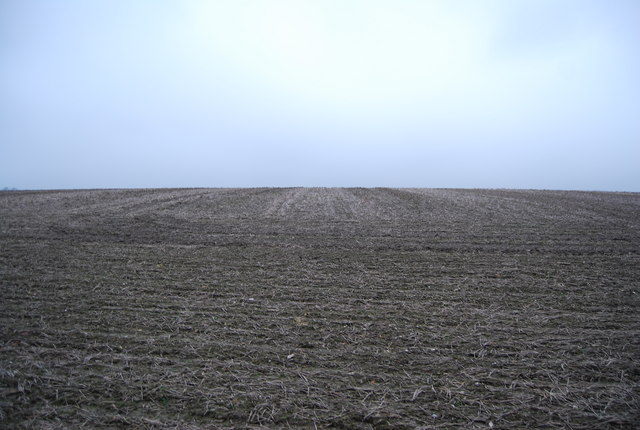 Bare soil in a large field