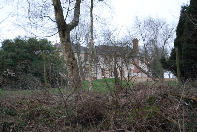 Uplands House through the trees