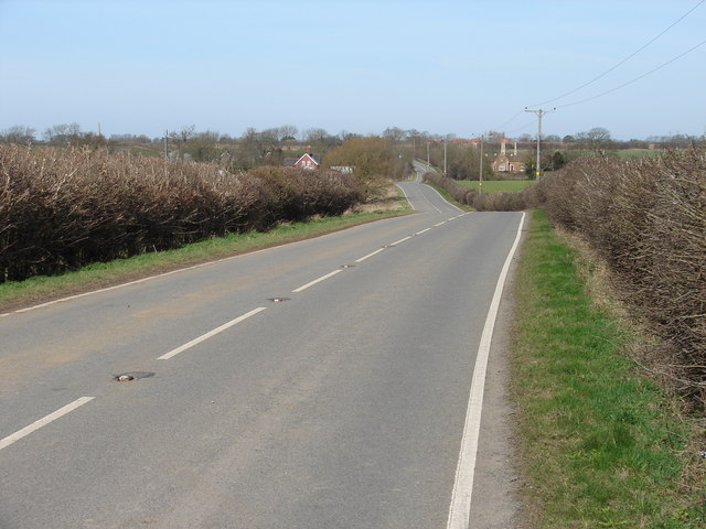 Looking north-west along Brocklesby Road