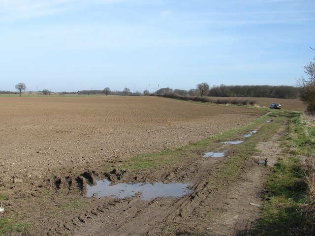 Field and private road off B1211