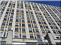 TQ3078 : Office Block looking up from Thames Path Albert Embankment by PAUL FARMER