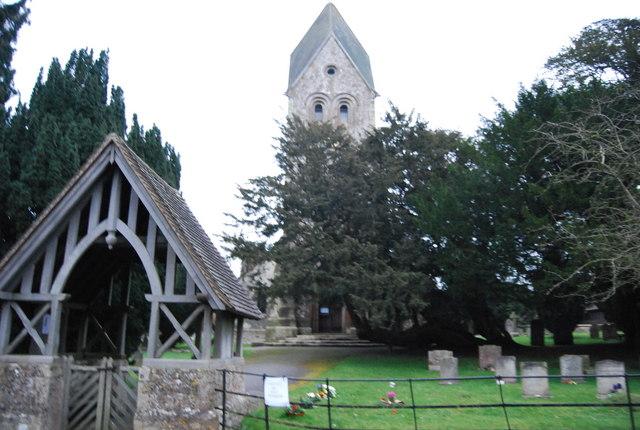 Church Porch & Church Tower, Hawkley