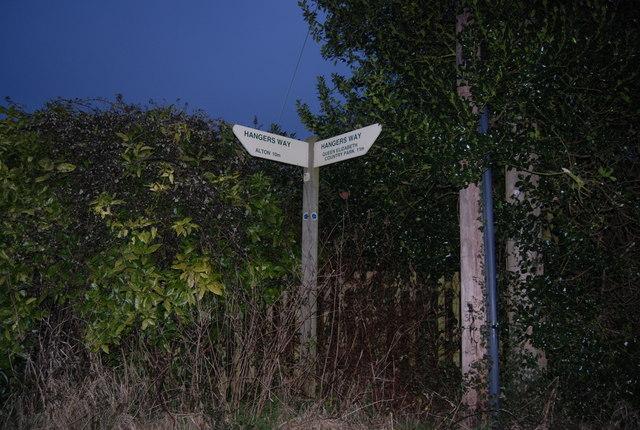 Signpost for the Hangers Way, Hawkley