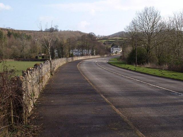 Former main road, Bickington