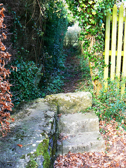 Footpath entrance, The Butts, Lydiard Millicent