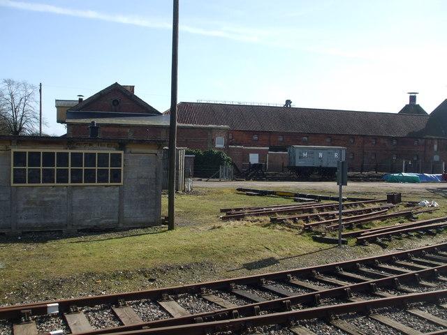 The Mid Norfolk railway, Dereham yard
