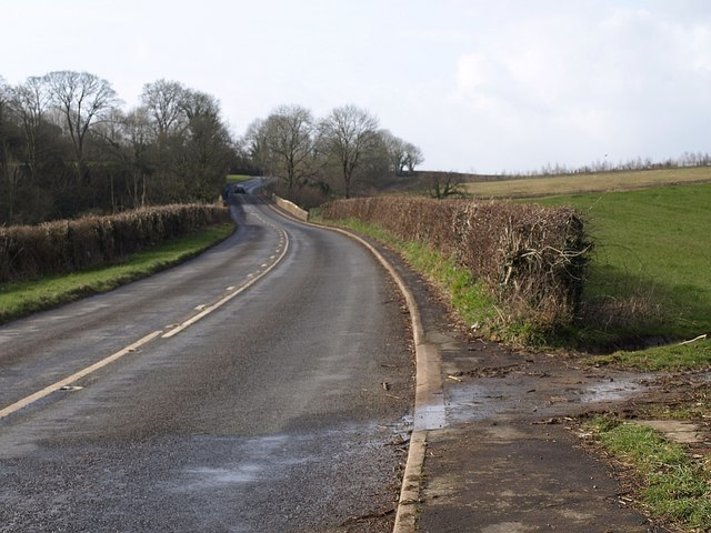 Former main road, Bickington