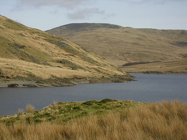 View over Nant-y-moch reservoir