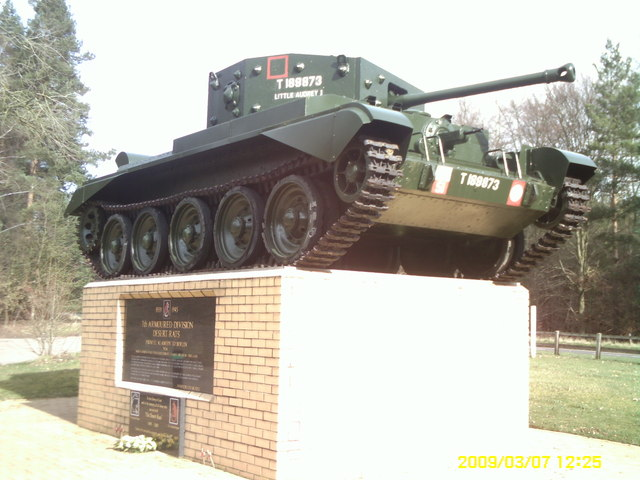 Desert Rat memorial, Thetford Forest