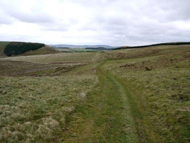 Farm track above Hazeltonrig