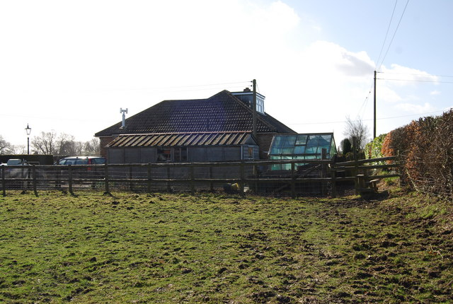 Bungalow by the footpath south of East Worldham