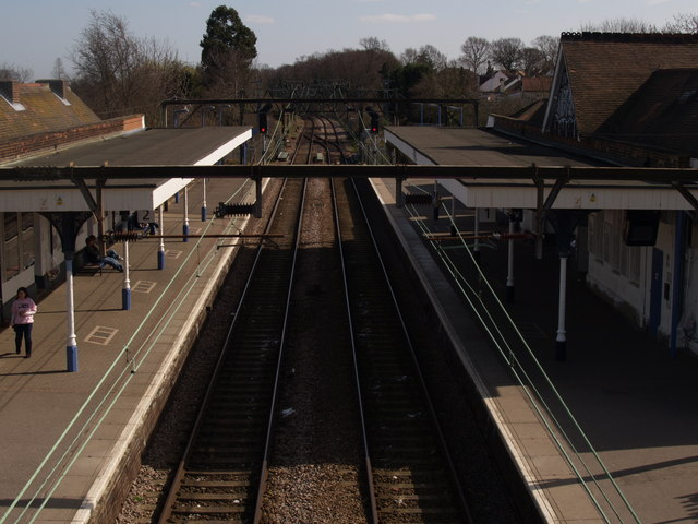 Hockley Station, looking towards Southend Victoria