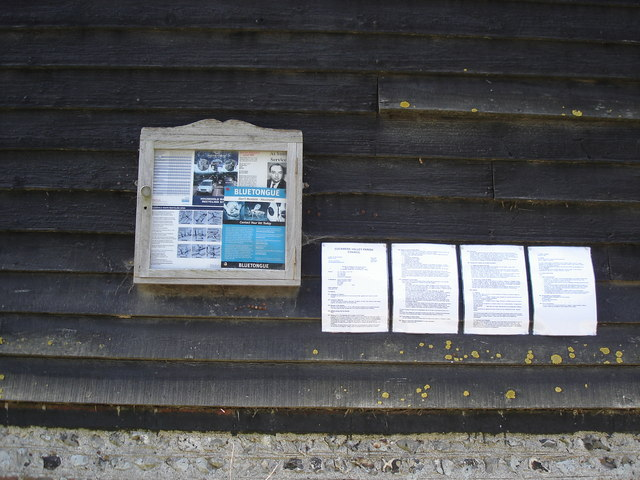 Parish notice board near Lullington Court