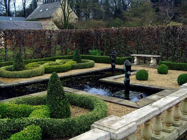Knot Garden at Barnsdale Gardens