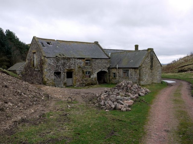 The old farm buildings at Hazeltonrig
