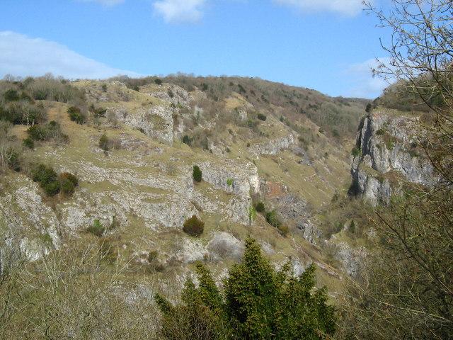 North side of Cheddar Gorge
