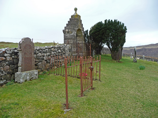 War Memorial gate, Uig Cemetery