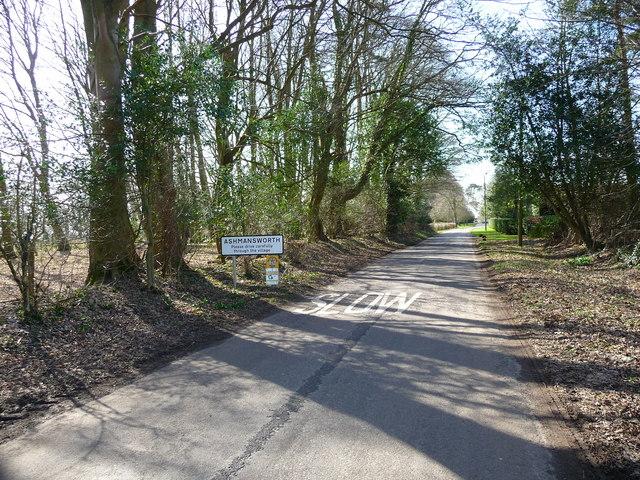 Ashmansworth - The Road Into Ashmansworth
