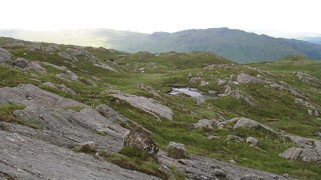 Rocky ground on  Beinn nam Beathrach