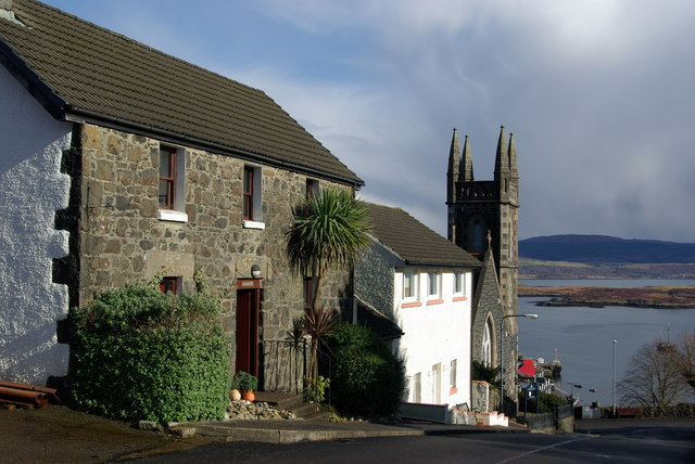 A view towards Tobermory Parish Church & bay