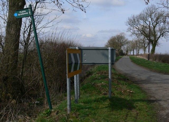 Ridgemere Lane near Barkby Holt
