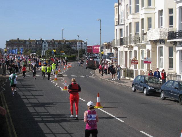 Hastings Half Marathon, Marina, St Leonards
