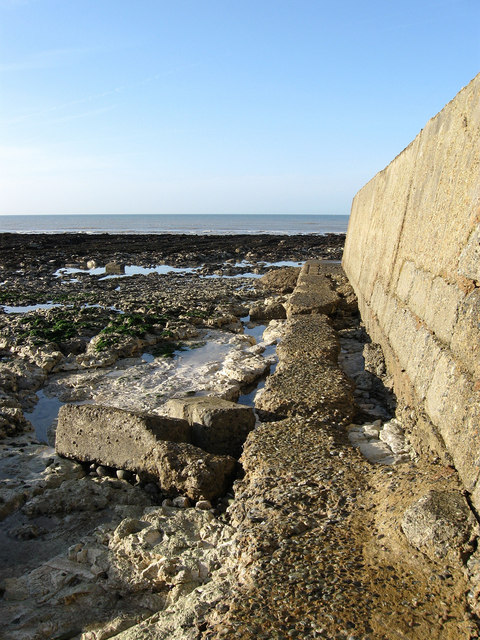 Concrete Groyne at Portobello