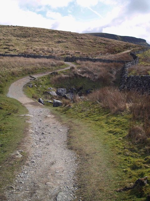 Turning right to Pen Y Ghent