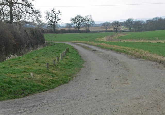 Looking west along Barkby Holt Lane