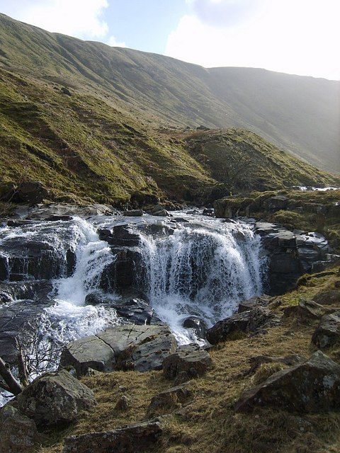 Waterfall, Langstrath Beck