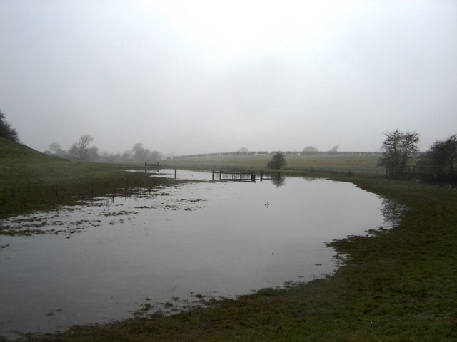 Flooded  meadow  alongside the  River  Kyle